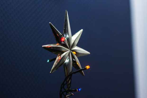 silver christmas tree topper